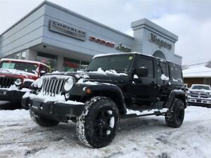 2016 Jeep WRANGLER UNLIMITED SAHARA,ALLOYS,NAV,LEATHER,HTD SEATS
