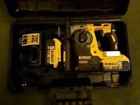 DeWALT DCH273P2 SDS-Plus Hammer Drill powered by 18v x 5Ah Li-ion Batteries