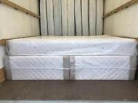 NEW. Single, Small Double, Double, King Size and Super King Divan Beds with Semi-Ortho Mattresses .