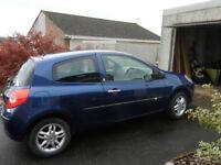 Renault Clio 1.2 16v (2007) 3dr. Blue.