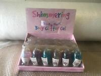 Job lot 96 Shimmering baby glitter gel with display box