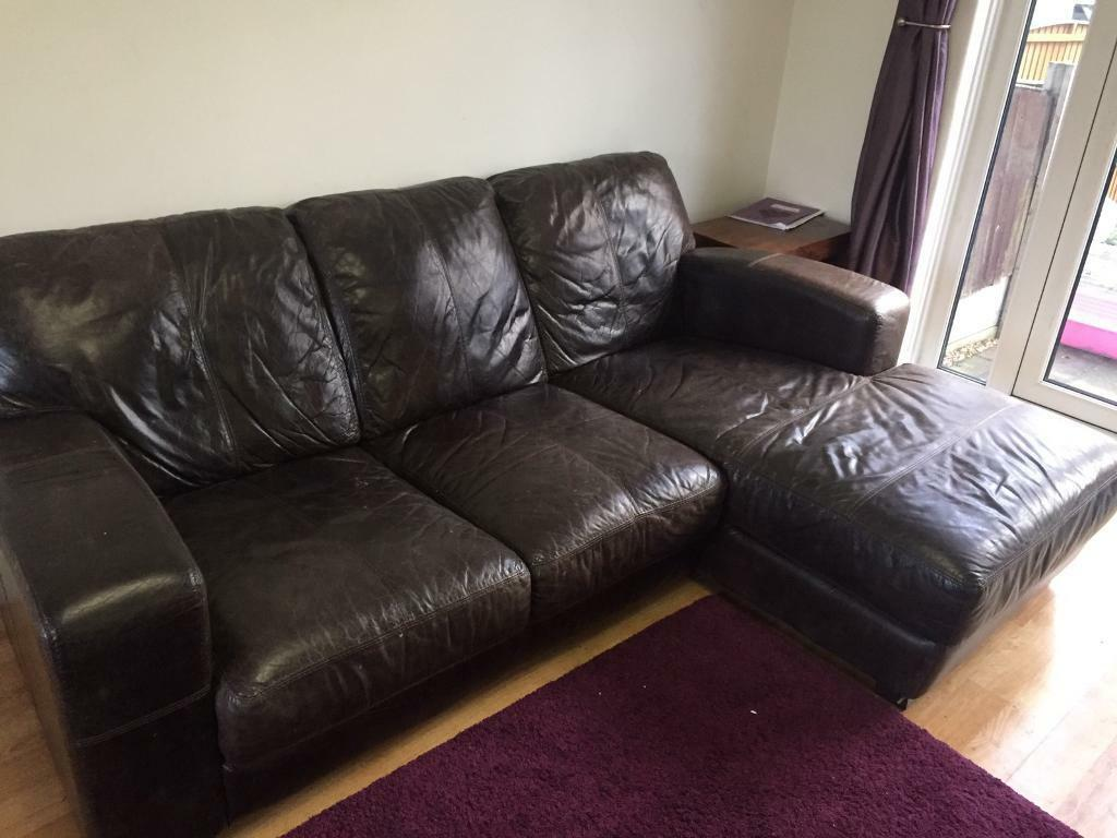 Dfs caesar grand outback leather 3 seater with chaise end for 2 seater chaise sofa for sale