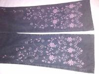 Ladies decorated jeans