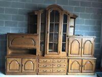 Solid Oak Furniture Set (@07752751518)