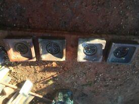Reclaimed drain tops