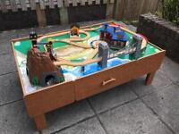 Kids train set and table.