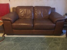 X 2 sofas. One is a double recliner. Comfy couches.