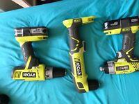 Ryobi drill and impact driver set