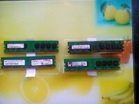 4 x 1 gb Ram Memory DDR2 PC2-5300U 667 CL5 240 pin for desktop computer