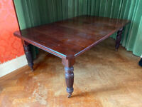 VINTAGE MAHOGANY DINING TABLE
