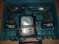 Makita set 18V li-ion Impack wrench & Impack driver