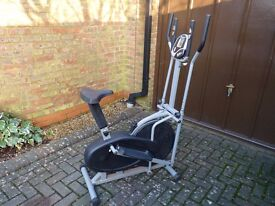 CROSS TRAINER EXERCISE MACHINE. Adjustable tension, fitted with a exercise computer. Hardly used.