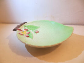 Vintage Carlton Ware Ceramic Leaf Trinket Dish Teabag Tray Soap Dish Unusual Pottery