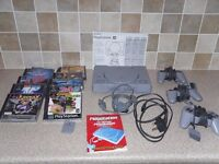 SONY PLAYSTATION, CONTROLLERS AND GAMES BUNDLE