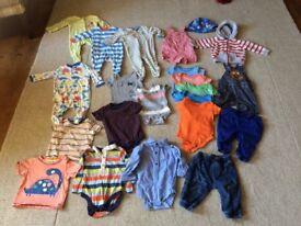 Baby Boy 0-12 month clothes bundle