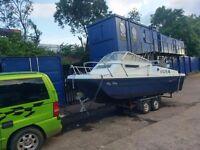 19ft Dory boat yamaha 25bhp+ triler