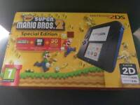 Nintendo 2DS special edition with super Mario Bros 2 brand new