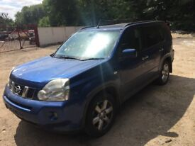 Nissan X-Trail 2.0 dCi Aventura 5dr blue (07 - 11) breaking for parts