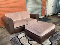 Fabric DFS Sofa & Foot stool delivery 🚚 sofa suite couch furniture