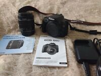 DSLR Canon EOS 100D Body + EFS 18 - 55m ISM lens (both used) **quick sale price**
