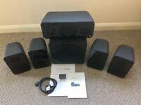 Monitor Audio Vector AV10 5:1 Home Cinema speakers plus subwoofer