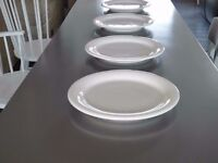 12 x Large Conran White Italian Heavy Glazed Ceramic Platters – perfect for dinners