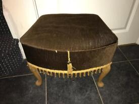 Vintage sewing box on legs