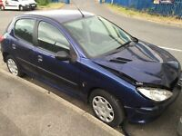 Peugeot 206 minor front end damage 4 door spares repairs start and drives