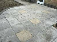 Patio slabs paving 45 x 45 cm approx 60