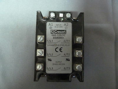 Crouzet Ga3-12d25z Solid State Relay 3 Phase 660v 25a