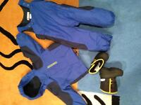 2T boys Snowsuit and boots