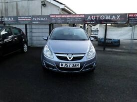 57 PLATE VAUXHALL CORSA 1.2 CLUB 3DR WITH AIR CON