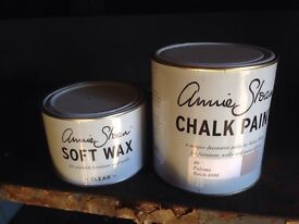 Annie Sloan paint. Furniture paint.Brand new. Annie sloan paloma paint and clear wax. Shabby chic