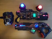 Wow Wee Indoor Light Strike Set (x2 Guns with x2 Targets) Safe for kids No Projectiles