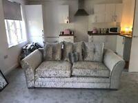 Crushed velvet brand new sofa