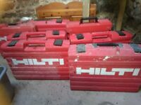 Hilti power tool storage cases