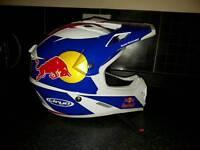 Red bull motocross bike helmet
