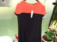 Black Colour Block Dress size 8 Brand New with Tags!