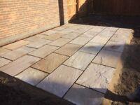 Indian sandstone paving slabs 845mm x 560mm