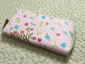 PINK LINING PURSE, gold lining AS NEW
