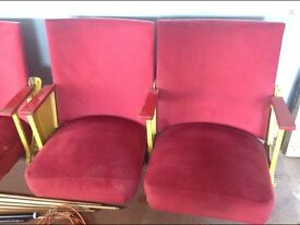 6 x theatre chairs