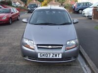 2007 CHEVROLET KALOS 1.2 SE 5 DR MANUAL, MET GREY, 60000 MILES WITH FULL STAMPED SERVICE HISTORY,