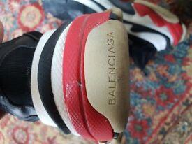 Balenciaga triple s Black Red Trainers size EU45 UK10 USED