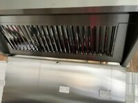 Professional Catering Equipment / Commercial Kitchen Extraction Canopy Stainless Steel - Brand New