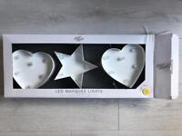 LIGHT STYLES HEARTS AND STAR LED MARQUEE LIGHTS