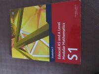 Edexcel AS and A Level Modular Mathematics S1 Book