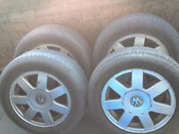 In good condition used Passat 7 Arms Alloy Rim