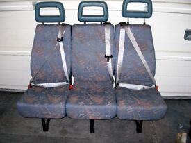 3 Seat Mini Bus Seat with fitted seatbelts.