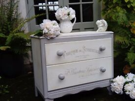 Beautiful Vintage Shabby Chic Chest Of Drawers