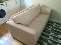 2 seater Sofa Bed cream